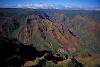 Waimea canyon aerial, Kauai