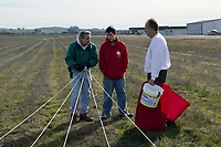 Prepariing to tow a banner from the Petaluma Municipal Airport, Petaluma, Sonoma County, California