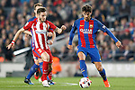 FC Barcelona's Andre Gomes (r) and Atletico de Madrid's Saul Niguez during Spanish Kings Cup semifinal 2nd leg match. February 07,2017. (ALTERPHOTOS/Acero)