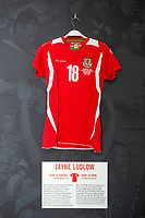 Jade Ludlows' 2008/10 Wales home shirt is displayed at The Art of the Wales Shirt Exhibition at St Fagans National Museum of History in Cardiff, Wales, UK. Monday 11 November 2019