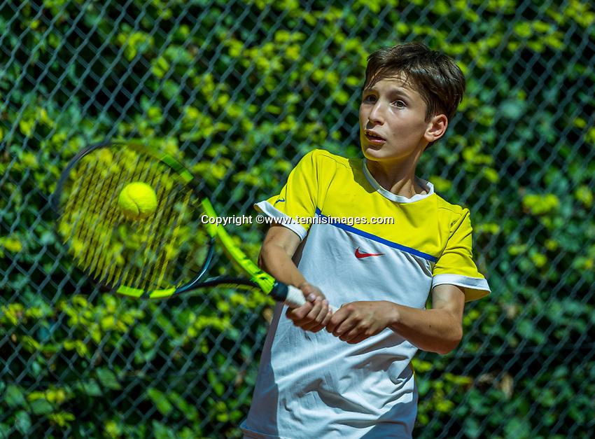 Hilversum, Netherlands, August 7, 2017, National Junior Championships, NJK, Joep Mallee<br /> Photo: Tennisimages/Henk Koster