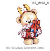 CHRISTMAS ANIMALS, WEIHNACHTEN TIERE, NAVIDAD ANIMALES, paintings+++++,KL6210/4,#xa# ,sticker,stickers
