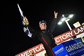 #16: Austin Hill, Hattori Racing Enterprises, Toyota Tundra Gunma Toyopet celebrates his win
