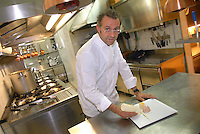 """- Modena, ristorante """"Francescana"""", lo chef Massimo Bottura in cucina<br /> <br /> - Modena, restaurant """"Francescana"""" the chef Massimo Bottura in the kitchen"""