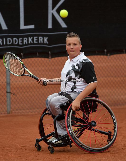 10-08-13, Netherlands, Rotterdam,  TV Victoria, Tennis, NJK 2013, National Junior Tennis Championships 2013,   Michel Graauw<br /> <br /> Photo: Henk Koster