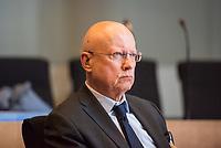"""Oeffentliche Sitzung des """"Cum/Ex""""-Ausschuss des Deutschen Bundestag am Montag den 13. Februar 2017. Als Zeuge war <br /> Staatssekretaer a.D. Dr. Hans Bernhard Beus geladen (im Bild).<br /> 13.2.2017, Berlin<br /> Copyright: Christian-Ditsch.de<br /> [Inhaltsveraendernde Manipulation des Fotos nur nach ausdruecklicher Genehmigung des Fotografen. Vereinbarungen ueber Abtretung von Persoenlichkeitsrechten/Model Release der abgebildeten Person/Personen liegen nicht vor. NO MODEL RELEASE! Nur fuer Redaktionelle Zwecke. Don't publish without copyright Christian-Ditsch.de, Veroeffentlichung nur mit Fotografennennung, sowie gegen Honorar, MwSt. und Beleg. Konto: I N G - D i B a, IBAN DE58500105175400192269, BIC INGDDEFFXXX, Kontakt: post@christian-ditsch.de<br /> Bei der Bearbeitung der Dateiinformationen darf die Urheberkennzeichnung in den EXIF- und  IPTC-Daten nicht entfernt werden, diese sind in digitalen Medien nach §95c UrhG rechtlich geschuetzt. Der Urhebervermerk wird gemaess §13 UrhG verlangt.]"""