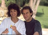 michel FUgain et sa femme Stefanie<br /> 1989<br /> © Anne SARTER./ DALLE