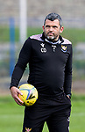 St Johnstone Training...<br />Manager Callum Davidson pictured during training ahead of tomorrow nights Premier Sports Cup quarter final against Dundee<br />Picture by Graeme Hart.<br />Copyright Perthshire Picture Agency<br />Tel: 01738 623350  Mobile: 07990 594431