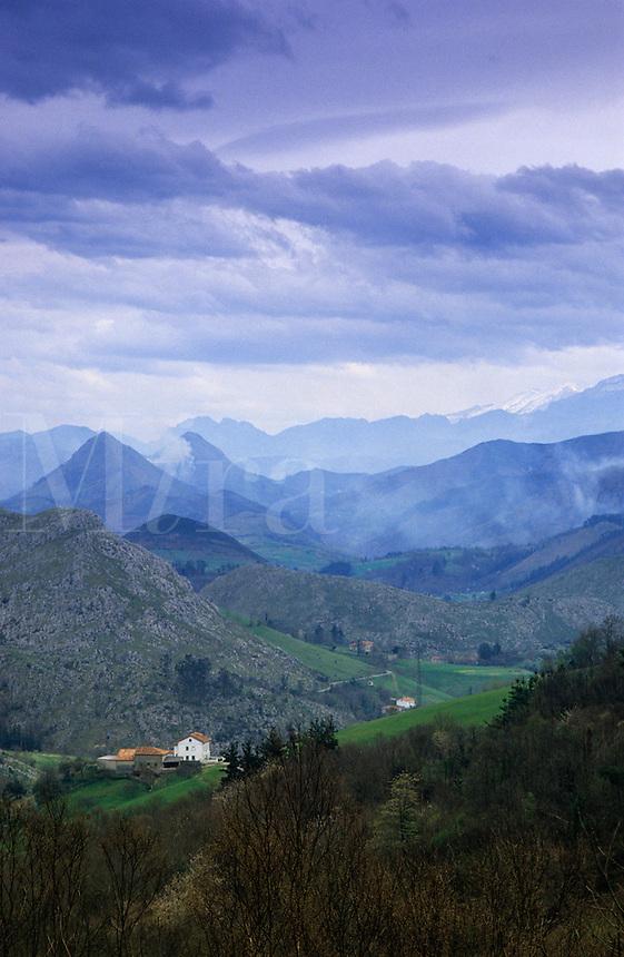 Spain. Asturias. Cantabrian cordillera. Winter.