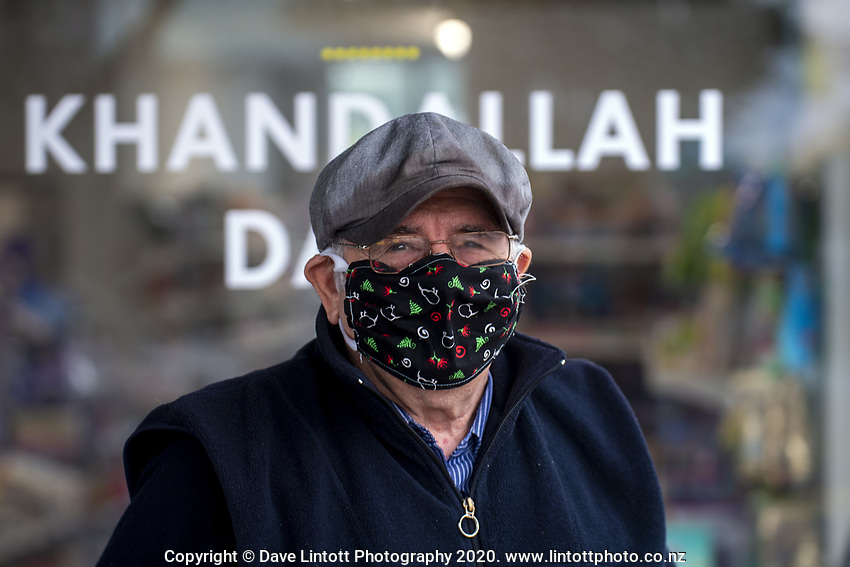 Brian Earles. Khandallah shopping centre at 4.30pm, Wednesday, during lockdown for the COVID19 pandemic in Wellington, New Zealand on Wednesday, 22 April 2020. Photo: Dave Lintott / lintottphoto.co.nz