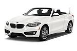 Front three quarter view of 2019 BMW 2 Series 230i Sport Line 2 Door Convertible angular front