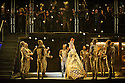 """EMBARGOED UNTIL 7:30pm FRIDAY 4th MARCH 2016: London, UK. 02.03.2016. English National Opera presents """"Akhnaten"""", composed by Philip Glass, and directed by Phelim McDermott. Picture shows: Anthony Roth Costanza (Akhnaten),  skills ensemble Gandini Juggling, and chorus. Photograph © Jane Hobson."""