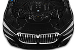 Car Stock 2020 BMW 7-Series M-Sport 4 Door Sedan Engine  high angle detail view