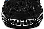 Car Stock 2020 BMW 7-Series M-Sport 4 Door Sedan Engine  high angle detail view