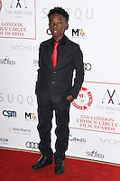 Alex Hibbert<br /> at the 2017 Critic's Circle Film Awards held at the Mayfair Hotel, London.<br /> <br /> <br /> ©Ash Knotek  D3219  22/01/2017