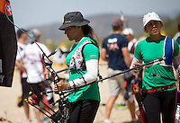 Alejandra Valencia,Aida Roman ,durante su prticipacion con el equipo Mexicano femenil de Tiro con Arco que se llevo la medalla de Oro en la prueba de 70 metros   de el  torneo  Arizona Cup 2013 en  BEN Avery. 6 abril 2013 en Phoenix Arizona......during his prticipacion with Mexican women's team archery that took the gold medal in the 70 meter test the Arizona Cup tournament 2013 in Ben Avery. April 6, 2013 in Phoenix Arizona