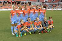 Houston, TX - Saturday July 30, 2016: Houston Dash Starting XI prior to a regular season National Women's Soccer League (NWSL) match between the Houston Dash and the Western New York Flash at BBVA Compass Stadium.