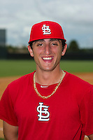 GCL Cardinals pitcher Rob Kaminsky (48) poses for a photo after the first game of a double header against the GCL Mets on July 17, 2013 at Roger Dean Complex in Jupiter, Florida.  GCL Cardinals defeated the GCL Mets 6-5 in twelve innings.  (Mike Janes/Four Seam Images)