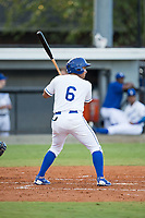 Jose Sanchez (6) of the Burlington Royals at bat against the Danville Braves at Burlington Athletic Stadium on August 15, 2017 in Burlington, North Carolina.  The Royals defeated the Braves 6-2.  (Brian Westerholt/Four Seam Images)