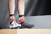 The black/white Philippe Gilbert (BEL/Quick Step floors) shoe combo rocks the podium<br /> <br /> 72nd Dwars Door Vlaanderen (1.UWT)<br /> 1day race: Roeselare › Waregem BEL (203.4km)