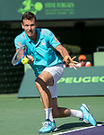 March 30 2017: Tomas Berdych (CZE) loses to Roger Federer (SUI) 6-2, 3-6, 7-6, at the Miami Open being played at Crandon Park Tennis Center in Miami, Key Biscayne, Florida.