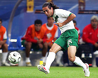 Jose Antonio Castro (15) of Mexico makes a pass. Portugal defeated Mexico 2-1 in their FIFA World Cup Group D match at FIFA World Cup Stadium, Gelsenkirchen, Germany, June 21, 2006.