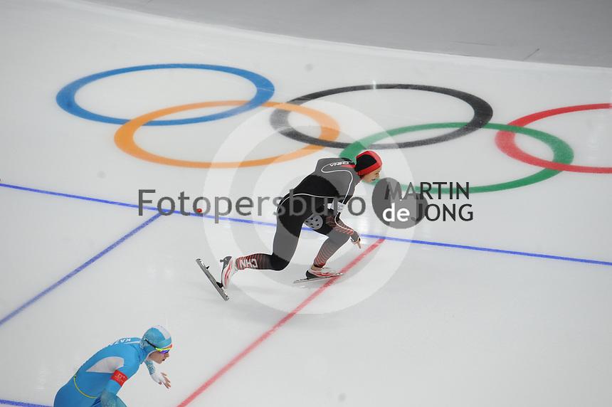 OLYMPIC GAMES: PYEONGCHANG: 18-02-2018, Gangneung Oval, Long Track, 500m Ladies, Hong Zhang (CHN), ©photo Martin de Jong