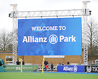 20130303 Copyright onEdition 2013©.Free for editorial use image, please credit: onEdition..General view of the large screen  during the Premiership Rugby match between Saracens and London Welsh at Allianz Park on Sunday 3rd March 2013 (Photo by Rob Munro)..For press contacts contact: Sam Feasey at brandRapport on M: +44 (0)7717 757114 E: SFeasey@brand-rapport.com..If you require a higher resolution image or you have any other onEdition photographic enquiries, please contact onEdition on 0845 900 2 900 or email info@onEdition.com.This image is copyright onEdition 2013©..This image has been supplied by onEdition and must be credited onEdition. The author is asserting his full Moral rights in relation to the publication of this image. Rights for onward transmission of any image or file is not granted or implied. Changing or deleting Copyright information is illegal as specified in the Copyright, Design and Patents Act 1988. If you are in any way unsure of your right to publish this image please contact onEdition on 0845 900 2 900 or email info@onEdition.com