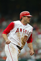 Troy Glaus of the Anaheim Angels during a 2003 season MLB game at Angel Stadium in Anaheim, California. (Larry Goren/Four Seam Images)