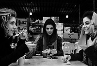 near Mahmoudabad, Iran, March 27, 2007.Only a handful from the thousands Teheranis on holiday in the region show up on beach cafe for a much needed tea on a cold, rainy day...