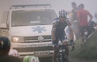 Philippe Gilbert (BEL/Quick Step floors) up the Port de Balès (HC/1755m/11.7km/7.7%)<br /> <br /> 104th Tour de France 2017<br /> Stage 12 - Pau › Peyragudes (214km)
