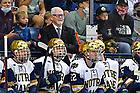 October 9, 2021; Hockey coach Jeff Jackson (photo by Matt Cashore/University of Notre Dame)