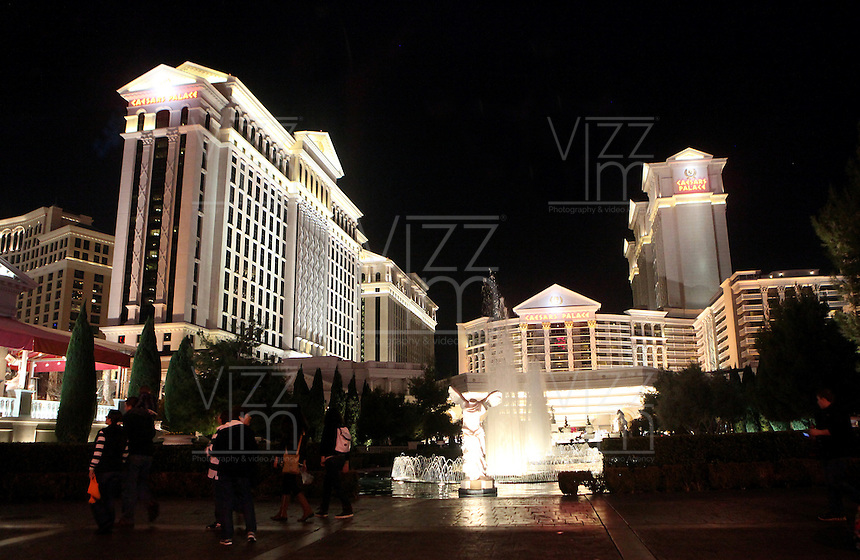 LAS VEGAS-ESTADOS UNIDOS. Hotel Cesar Palace de la ciudad de Las Vegas, sitio de descanso y placer de turistas y residentes americanos. Photo: VizzorImage
