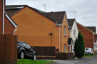 Pictured: The house (in brick) where Keith Morgan was living in Pontypridd, south Wales, UK.  Monday 15 October 2018<br /> Re: Conman Keith Morgan has been jailed for 8 and a half years at Cardiff Crown Court. He had claimed that he was one of the world's wealthiest men but instead he was living on benefits in rented accommodation in Pontypridd.