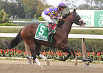 Fort Loudon, ridden by Corey Nakatani, runs in the Vosburgh Invitational Stakes (GI) at Belmont Park in Elmont, New York on September 29, 2012.  (Bob Mayberger/Eclipse Sportswire)