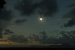 Cairns total solar eclipse 14 November 2012. False Cape and Cape Grafton in background.