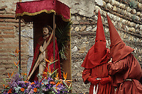 Europe/France/Languedoc-Roussillon/66/Pyrénées -Orientales/Perpignan : Procession de la Saint-Sanch - Statue