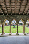 UK, Scotland,  Isle of Iona, Iona Abbey Cloisters, the abbey was originally founded in the 6th century and was restored in the 20th century.