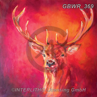 Simon, REALISTIC ANIMALS, REALISTISCHE TIERE, ANIMALES REALISTICOS, innovativ, paintings+++++SueGardner_RedStag,GBWR369,#a#, EVERYDAY