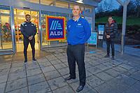 2020 12 03 Aldi re-opening in Swansea, Wales, UK