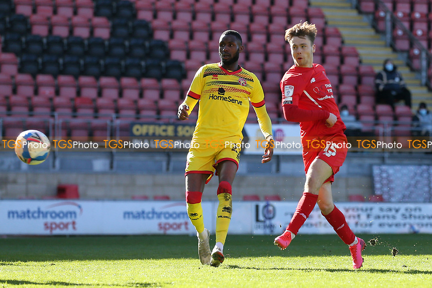 Dan Kemp of Leyton Orient goes close during Leyton Orient vs Walsall, Sky Bet EFL League 2 Football at The Breyer Group Stadium on 5th April 2021