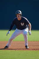New York Yankees Eric Wagaman (35) during a Minor League Spring Training game against the Philadelphia Phillies on March 23, 2019 at the New York Yankees Minor League Complex in Tampa, Florida.  (Mike Janes/Four Seam Images)