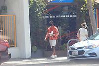 Usher Spotted taking a walk in Beverly Hills