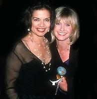 Bianca Jagger and Olivia Newton-John 1998<br /> Photo By John Barrett/PHOTOlink