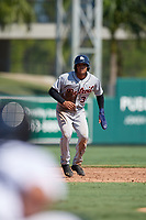 Detroit Tigers Jose De La Cruz (31) leads off during a Florida Instructional League intrasquad game on October 17, 2020 at Joker Marchant Stadium in Lakeland, Florida.  (Mike Janes/Four Seam Images)