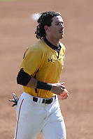 Johnny Bekakis #2 of the Long Beach State Dirtbags during a game against the Indiana Hoosiers at Blair Field on March 15, 2014 in Long Beach, California. Indiana defeated Long Beach State 2-1. (Larry Goren/Four Seam Images)