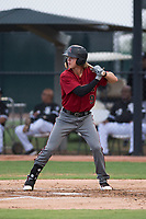AZL Diamondbacks designated hitter L.T. Tolbert (9) at bat during an Arizona League game against the AZL White Sox at Camelback Ranch on July 12, 2018 in Glendale, Arizona. The AZL Diamondbacks defeated the AZL White Sox 5-1. (Zachary Lucy/Four Seam Images)