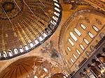Hagia Sophia Dome 01 - Main dome of Hagia Sophia (Aya Sofya) basilica, Sultanahmet, Istanbul, Turkey