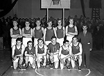 A 1950's basketball team in the Killarney town league..Photo by Donal MacMonagle..from the MacMonagle, Killarney photo archive.www.macmonagle.com