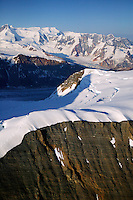 Mountains, snow and ice around Mount Blackburn (16,390 feet) in Wrangell Saint Elias National Park and Preserve, Alaska
